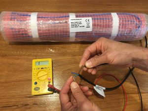 electric underfloor heating resistance test