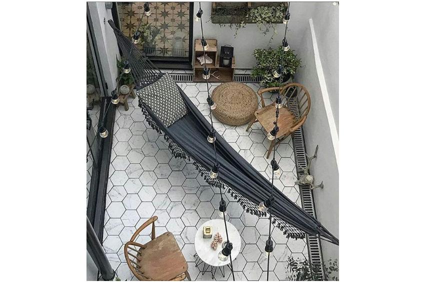 hammock in house
